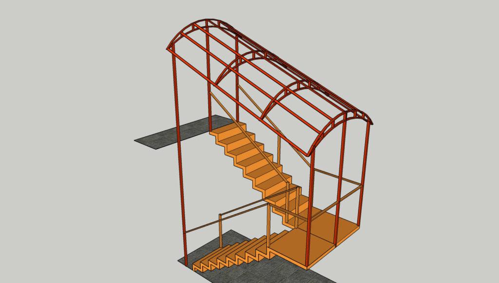 Навес над лестницей