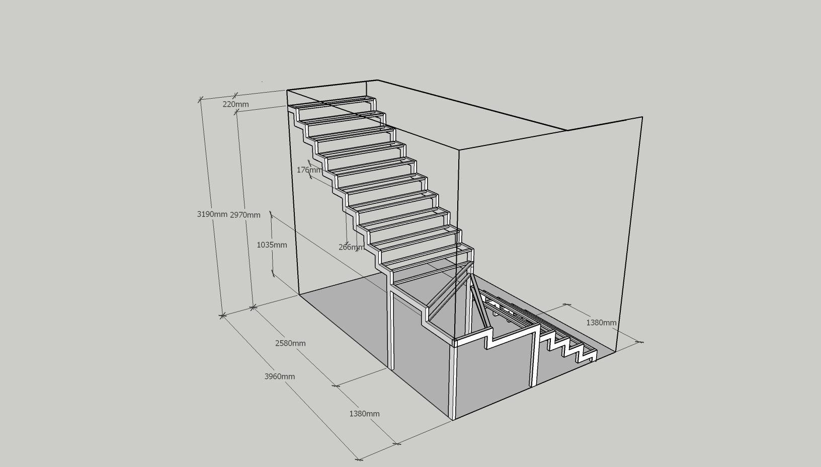 Лестница фигурная с разворотом